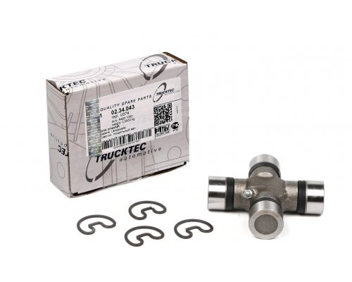 Крестовина кардана (27x92мм) MB Sprinter 906 2006- 02.34.043 TRUCKTEC (Германия)