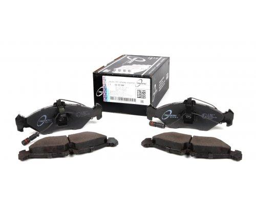 Тормозные колодки задние (с датчиками) (141x50x17мм) MB Sprinter 208-316 1995-2006 02.35.084 TRUCKTEC (Германия)