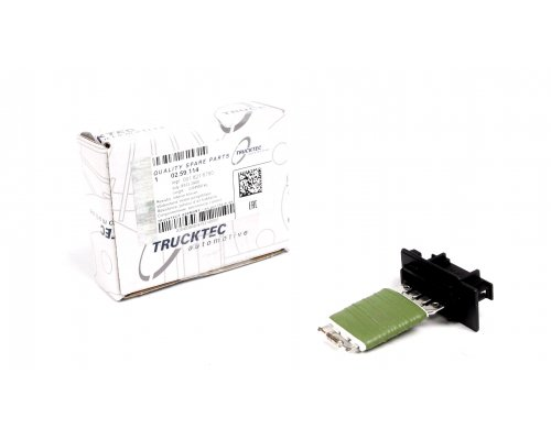 Реостат / резистор печки (4 контакта, начиная с № кузова: R365851) MB Sprinter 901-905 1995-2006 02.59.114 TRUCKTEC (Германия)