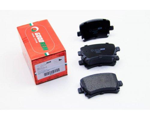 Тормозные колодки задние без датчика (105.3х55.9х17.1mm) VW Caddy III 04- RM1017 GOODREM (Венгрия)