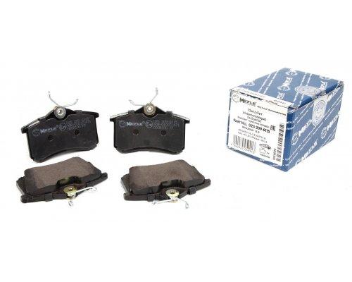 Тормозные колодки задние без датчика (105.3х55.9х17.1mm) VW Caddy III 04- 0252096115 MEYLE (Германия)