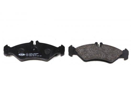 Тормозные колодки задние (с датчиками) (141x50x17мм) VW LT 28-35 1996-2006 0252162117 MEYLE (Германия)