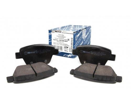 Тормозные колодки задние без датчика (109.3х53.4х17.7mm) VW Caddy III 04- 0252456317 MEYLE (Германия)