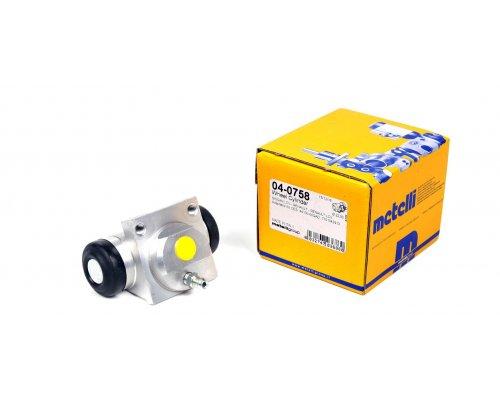 Цилиндр тормозной рабочий задний (для повышенной нагрузки) Renault Kangoo / Nissan Kubistar 97-08 04-0758 METELLI (Италия)