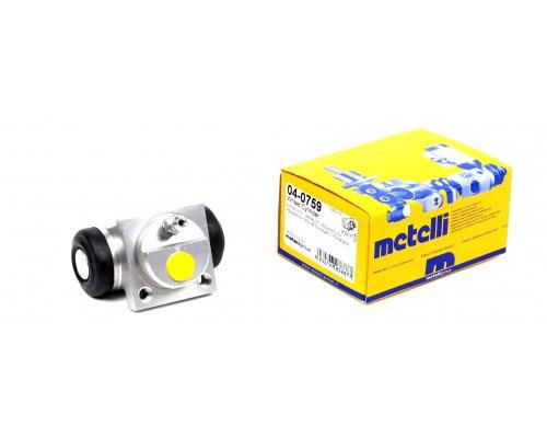 Цилиндр тормозной рабочий задний (не для повышенной нагрузки) Renault Kangoo / Nissan Kubistar 97-08 04-0759 METELLI (Италия)