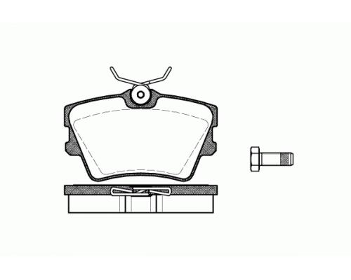 Тормозные колодки задние (без датчика) VW Transporter T4 90-03 05P616 LPR (Италия)