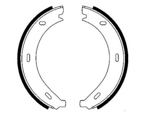 Колодки ручника (180x20) MB Vito 638 1996-2003 07320 LPR (Италия)