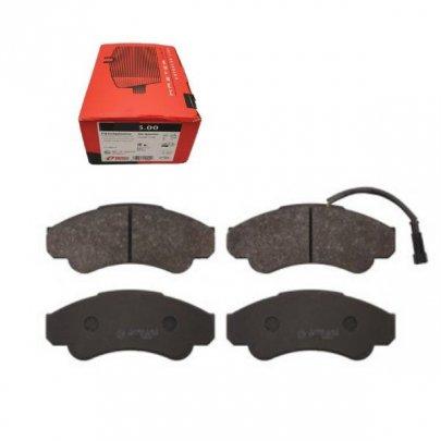Тормозные колодки передние (с датчиком, R16) Fiat Ducato / Citroen Jumper / Peugeot Boxer 1994-2006 0959.01 Remsa (Испания)