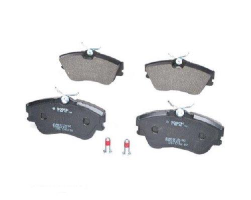 Тормозные колодки передние без датчика (R15, сплошной диск, 129.7x65.2x19mm) VW T4 90-03 0986461753 BOSCH  (Германия)