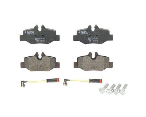 Тормозные колодки задние (с датчиком) MB Vito 639 2003- 0986494082 BOSCH (Германия)