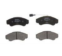 Тормозные колодки передние (с датчиком, R16) Fiat Ducato / Citroen Jumper / Peugeot Boxer 1994-2006 0986494850 BOSCH (Германия)