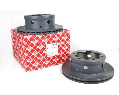 Тормозной диск задний (со сдвоенным колесом, 285х22мм) VW LT 46 1996-2006 10639 FEBI (Германия)