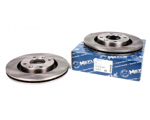 Тормозной диск передний вентилируемый (266x22mm) Peugeot Partner / Citroen Berlingo 1996-2011 11-155210017 MEYLE (Германия)