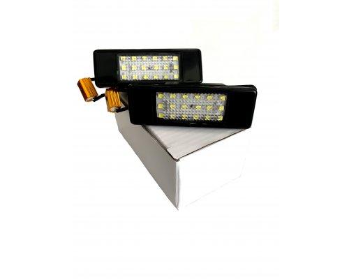 Подсветка номера (LED, комплект 2шт) Fiat Scudo II / Citroen Jumpy II / Peugeot Expert II 2007- 111002 BS Auto (КНР)