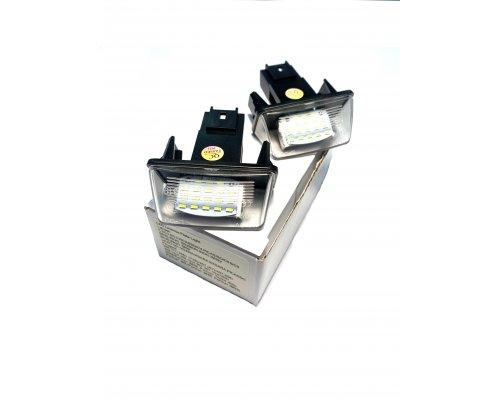 Подсветка номера (ляда, LED, комплект 2шт) Peugeot Partner II / Citroen Berlingo II 2008- 111015 BS Auto (КНР)