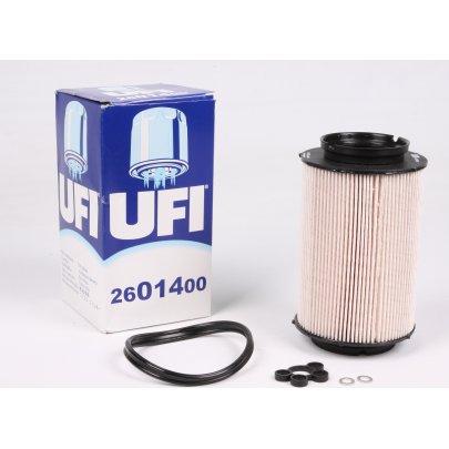 Фильтр топливный (колба № 1K0127400B / C / E / J) VW Caddy III 1.9TDI / 2.0SDI 04- 26.014.00 UFI (Италия)