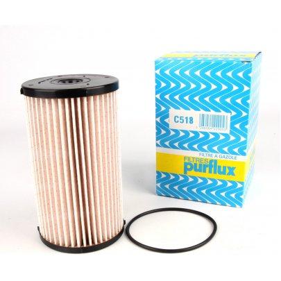 Фильтр топливный (колба № 1K0127400K) VW Caddy III 1.6TDI / 1.9TDI / 2.0SDI 04- C518 PURFLUX (Франция)
