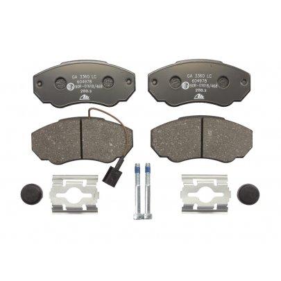 Тормозные колодки передние (с датчиком, R15) Fiat Ducato / Citroen Jumper / Peugeot Boxer 1994-2006 13.0460-4978.2 ATE (Германия)