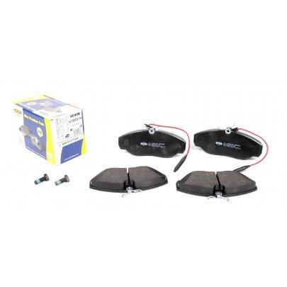 Тормозные колодки передние (с датчиком, R15) Fiat Ducato / Citroen Jumper / Peugeot Boxer 1994-2002 141053-700 ICER (Испания)