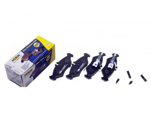 Тормозные колодки задние (с датчиками) (141x50x17мм) MB Sprinter 208-316 1995-2006 141102 ICER (Испания)