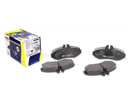Тормозные колодки передние без датчика (система BOSCH) MB Vito 638 1996-2003 141288 ICER (Испания)