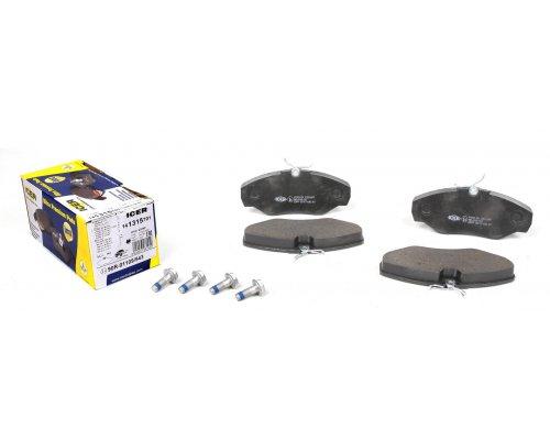 Тормозные колодки передние Renault Trafic II / Opel Vivaro A 2001-2014 141315-701 ICER (Испания)