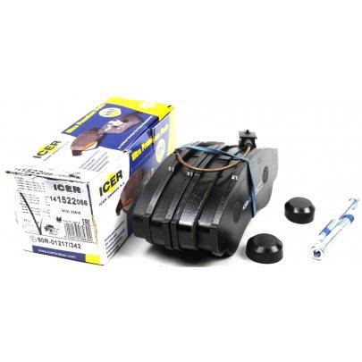 Тормозные колодки передние (с датчиком, R16) Fiat Ducato / Citroen Jumper / Peugeot Boxer 1994-2006 141522-066 ICER (Испания)