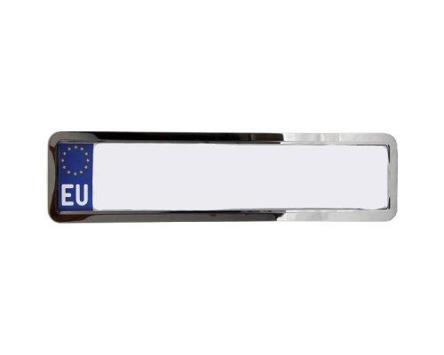 Рамка номерного знака нержавейка (хром) 142000 WINSO (Польша)