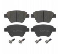 Тормозные колодки задние без датчика (109.3х53.4х17.7mm) VW Caddy III 04- 16-59 TOMEX (Польша)