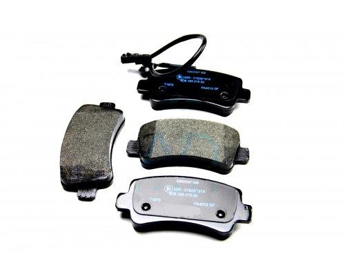 Тормозные колодки задние (без сдвоенного колеса, с датчиком) Renault Master III / Opel Movano B 2010- 1648 TOMEX (Польша)