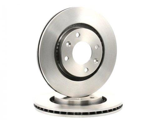 Тормозной диск передний вентилируемый (266x22mm) Peugeot Partner / Citroen Berlingo 1996-2011 17336 ABS (Нидерланды)