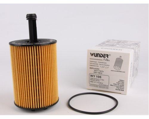 Фильтр масляный VW Caddy III 1.9TDI / 2.0SDI / 2.0TDI (103kW) 04-10 WY-106 WUNDER (Турция)
