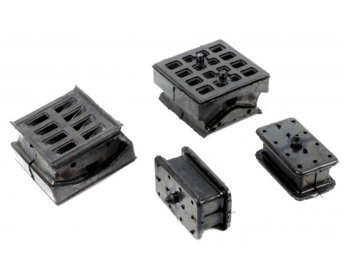 Комплект подушек передней пластиковой рессоры (4шт) VW Crafter 2006- 201175 SOLGY (Испания)
