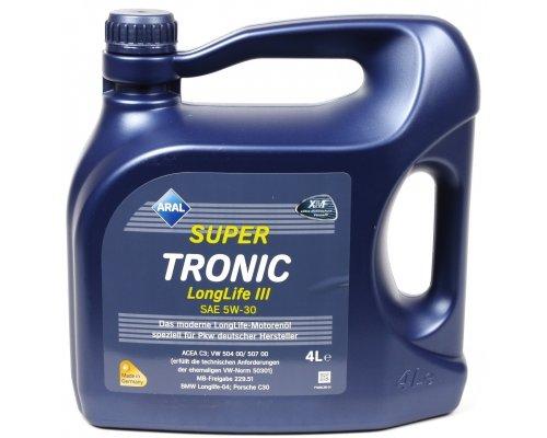 Синтетическое моторное масло Super Tronic Long Life III 5w30 (4L) 20479 ARAL (Германия)