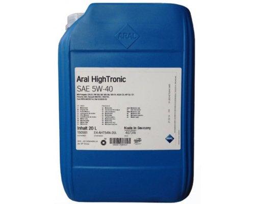 Синтетическое моторное масло High Tronic SAE 5w-40 (20L) 20633 ARAL (Германия)