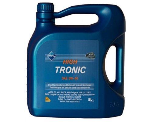 Синтетическое моторное масло High Tronic SAE 5w-40 (5L) 20635 ARAL (Германия)