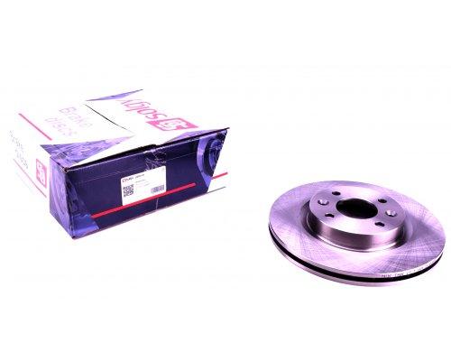 Тормозной диск передний (с ABS, D=259mm) Renault Kangoo / Nissan Kubistar 97-08 208019 SOLGY (Испания)