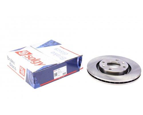 Тормозной диск передний вентилируемый (266x22mm) Peugeot Partner / Citroen Berlingo 1996-2011 208044 SOLGY (Испания)