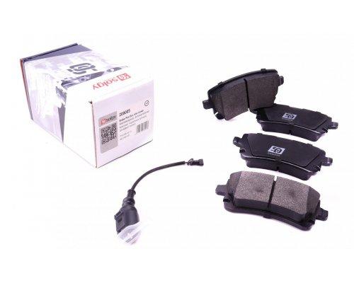 Тормозные колодки задние (LUCAS, с датчиком) VW T5 03- 209005 SOLGY (Испания)