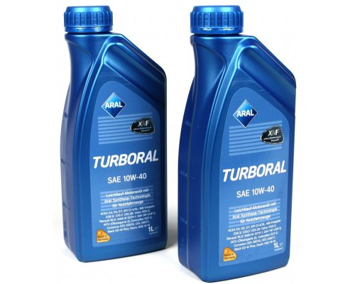 Полусинтетическое моторное масло Turboral SAE 10w40 (1L) 22107 ARAL (Германия)