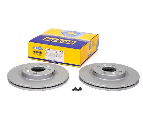 Тормозной диск передний (с ABS, D=259mm) Renault Kangoo / Nissan Kubistar 97-08 23-0549C METELLI (Италия)