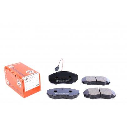 Тормозные колодки передние (с датчиком, R15) Fiat Ducato / Citroen Jumper / Peugeot Boxer 1994-2006 23917.195.1 ZIMMERMANN (Германия)