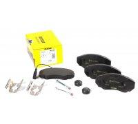 Тормозные колодки передние (с датчиком, R15) Fiat Ducato / Citroen Jumper / Peugeot Boxer 1994-2006 2391701 TEXTAR (Германия)