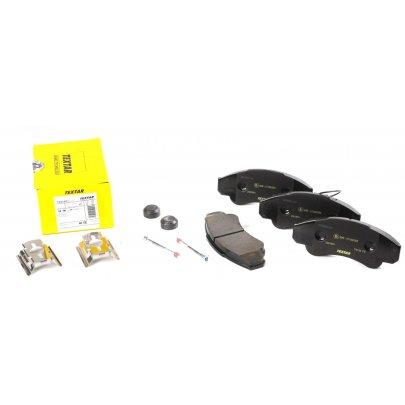 Тормозные колодки передние (с датчиком, R16) Fiat Ducato / Citroen Jumper / Peugeot Boxer 1994-2006 2391901 TEXTAR (Германия)