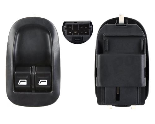 Кнопка стеклоподъемника левая двойная (водительская) Fiat Scudo / Citroen Jumpy / Peugeot Expert 1995-2006 2395P-72 POLCAR (Польша)
