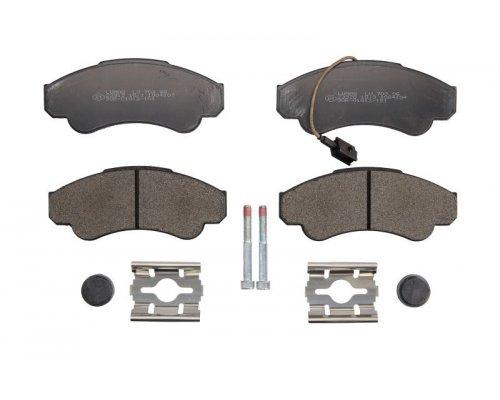 Тормозные колодки передние (с датчиком, R16) Fiat Ducato / Citroen Jumper / Peugeot Boxer 1994-2006 23990070310 BRECK (Польша)