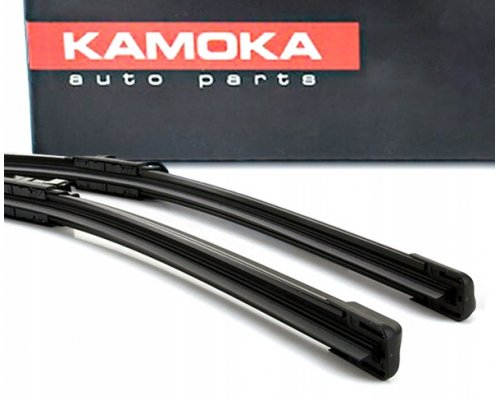 Комплект щеток стеклоочистителя (бескаркасные, 650мм + 600мм) VW Crafter 2006- 27D02 KAMOKA (Польша)