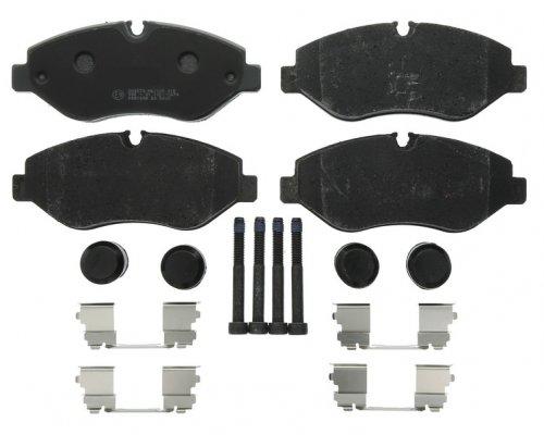 Тормозные колодки передние (с датчиком, система Brembo) MB Vito 639 2003- 0252919220/PD MEYLE (Германия)