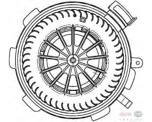 Моторчик печки (с кондиционером) VW Crafter 2006- 343435 KALE