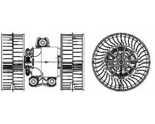 Моторчик печки (с кондиционером) MB Vito 639 2003- 348865 KALE